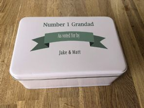 PERSONALISED GRANDAD'S Tin Present ANY NAME Grandpa Pops Bampy Birthday? Dad